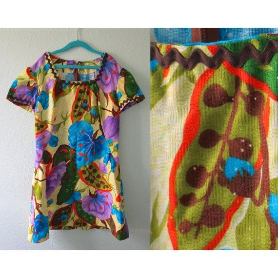 Girls Mod Dress Vintage 60s Mini Dress