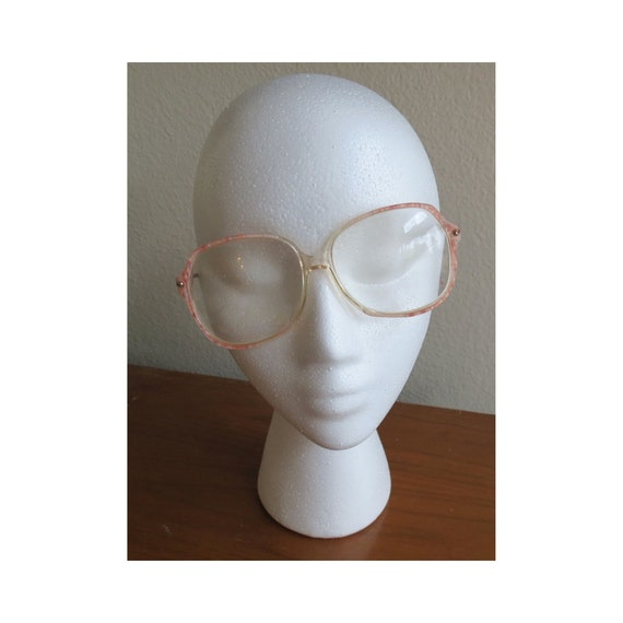 80's Glasses / 1980's Eye Glasses / Large Frames / Pastel Pink Frames / Vintage Eyeglasses / Rose Quartz Glasses / Vintage Sunglasses
