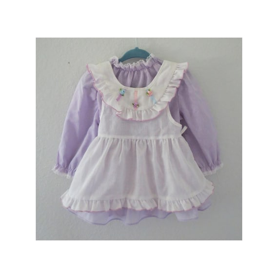 Vintage Baby Dress Pastel Lace Toddler Dress