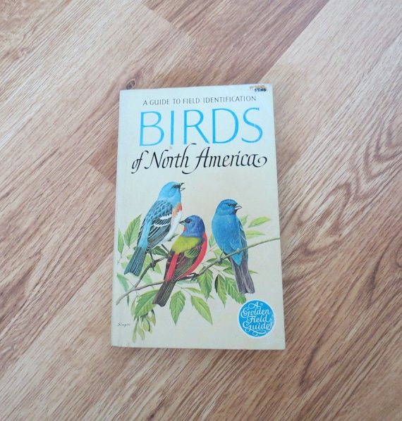 Golden Birds Book / Birds of North America / Field Identification Guide / Paperback / Vintage Golden Guide / Ornithology Book