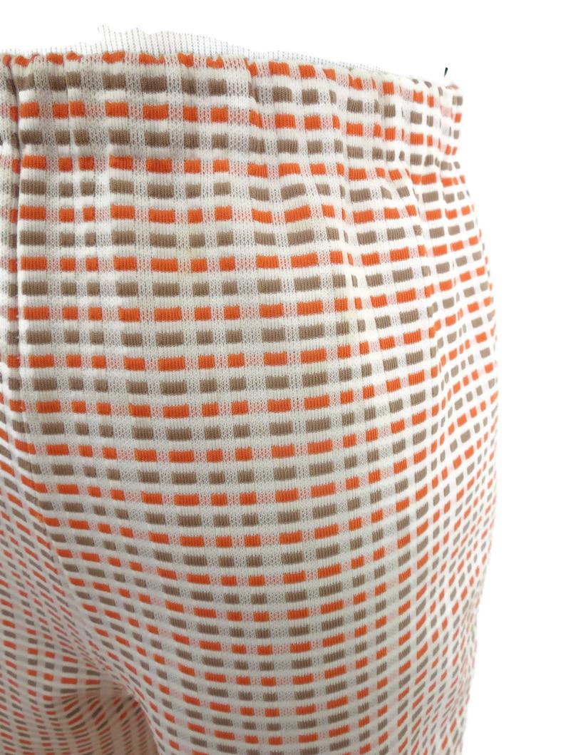 Vintage 60/'s Shorts  Mod Shorts  1960/'s High Waisted Shorts  Size Medium  Orange Stretchy Shorts  1970/'s Bermuda Shorts