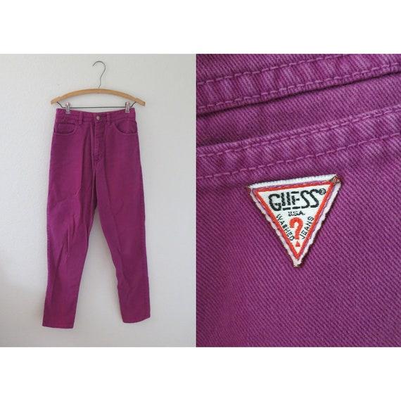Vintage Guess Jeans Pink Denim Pants 27
