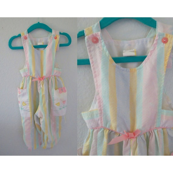 Vintage Baby Romper Pastel Summer Outfit