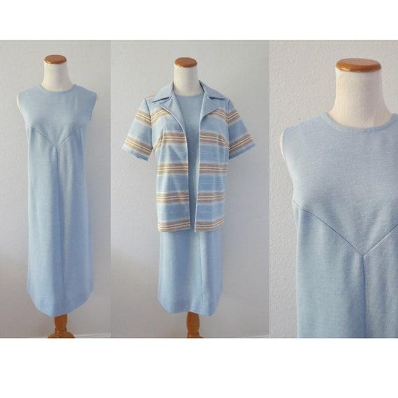 60s Shift Dress and Jacket Set Mod Dress