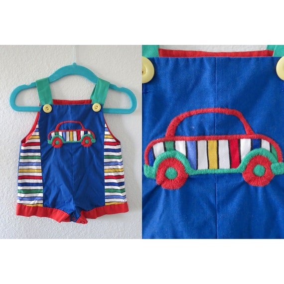 Vintage Baby Romper Rainbow Outfit