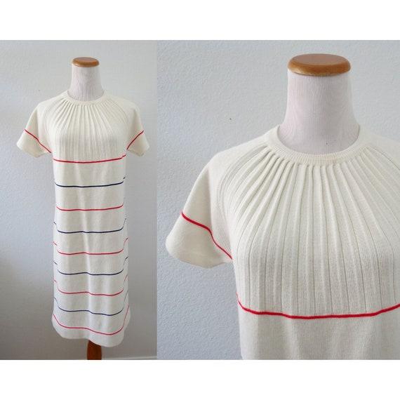 60s Knit Dress 1960s Mod Shift Dress