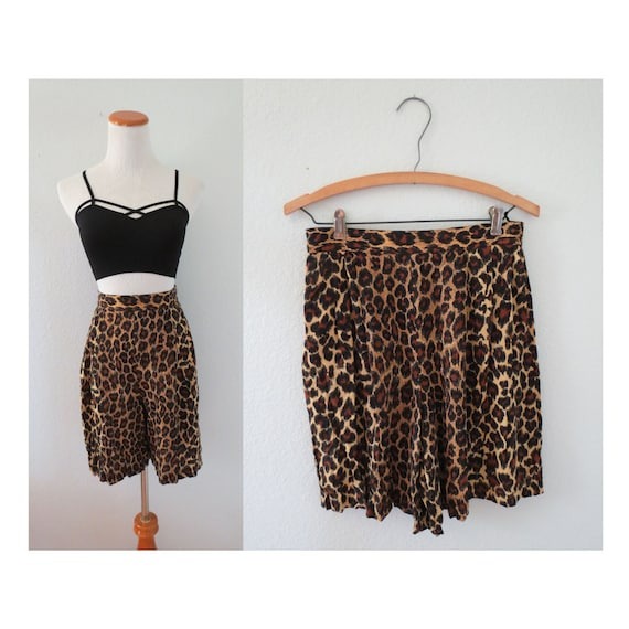 Animal Print Shorts Leopard High Waisted Short