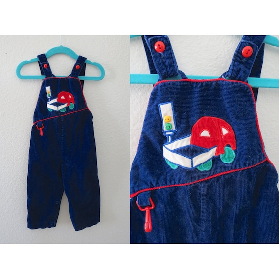 Baby Overalls Boys Corduroy Truck Outfit