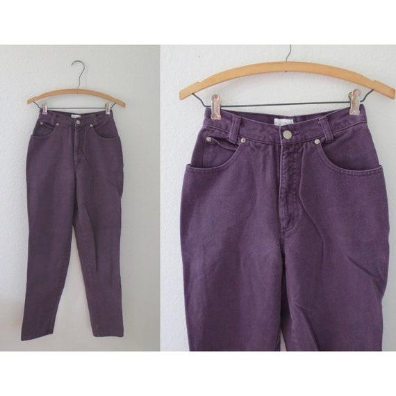 Vintage Purple Jeans High Waisted Denim 25
