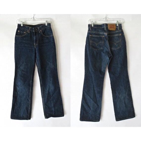 Levi's 517 Jeans / Boot Cut Jeans / Mom Jeans / Vintage Levi's Denim Jeans / 90's Levi's / Size 7 Juniors / Short Length
