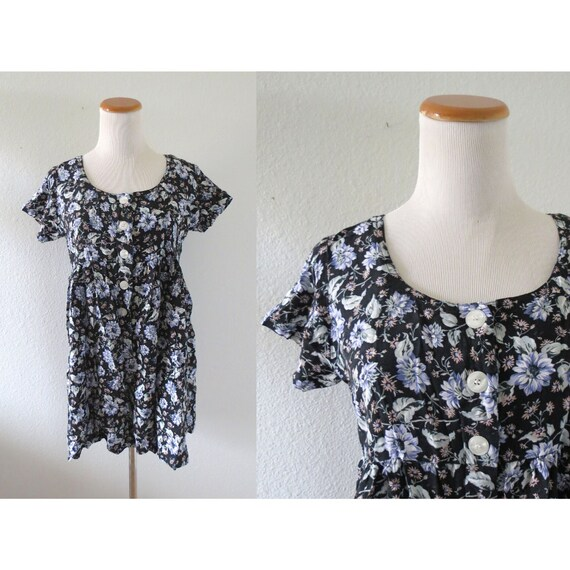 90s Floral Romper Rayon Summer Playsuit