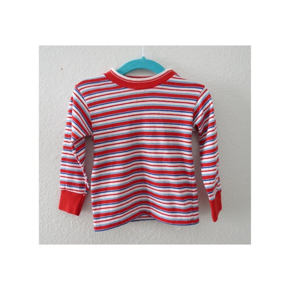 Vintage Toddler Shirt Striped Long Sleeve Tee