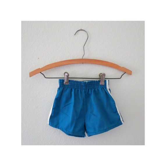 Vintage Toddler Shorts Blue Athletic Short