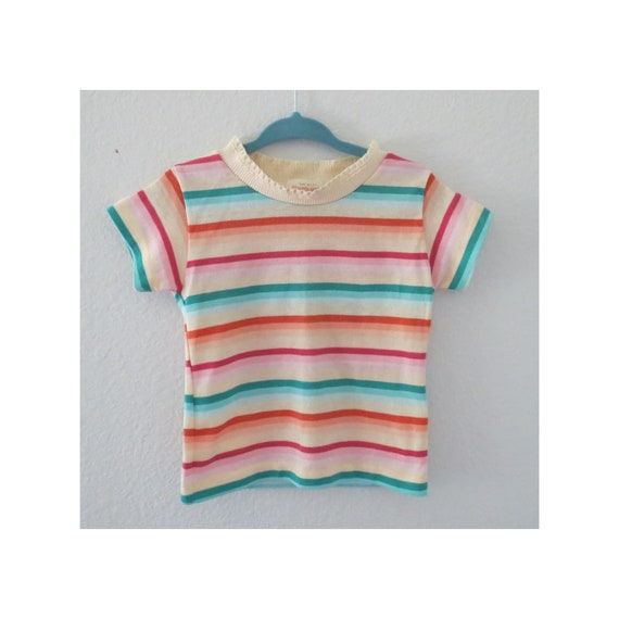 Vintage Toddler Shirt Striped Top
