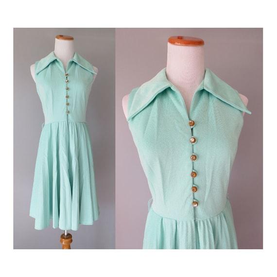 60s Mod Mini Dress Pastel Mint Dress