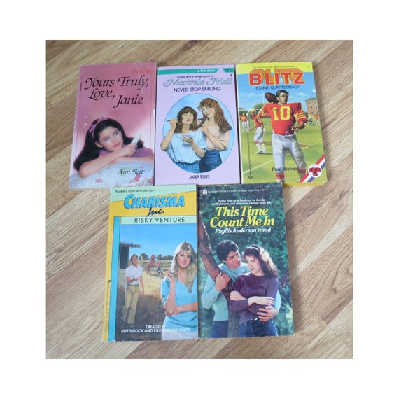 80's Paperback Book Lot / YA Paperbacks / 1980's Teen Books / Young Adult Fiction / Wildfire Books / Merivale Mall / Paperback Crush