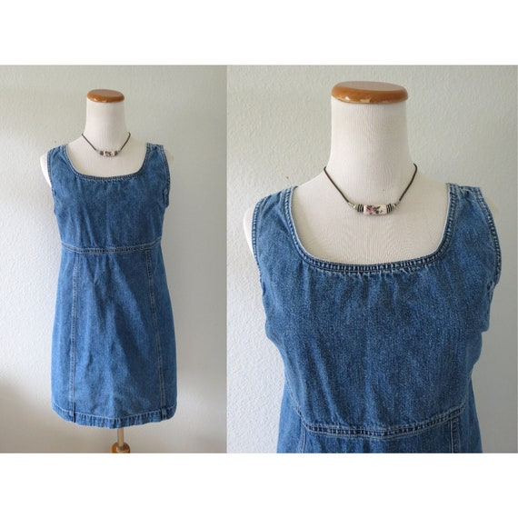 90s Denim Dress Gap Jean Mini Dress