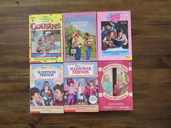 80's Paperback Book Lot / 90's YA Paperbacks / 1980's Teen Books / Young Adult Fiction / Taffy Sinclair / Sleepover Friends / Sweet Valley