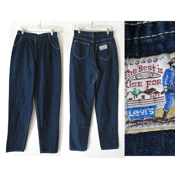 "Levi's Plowboy Jeans / Vintage 80's Levi's Jeans / Farmers Mechanics and Miners / Pleated Jeans / Mom Jeans / Size 6 / 28"" Waist"