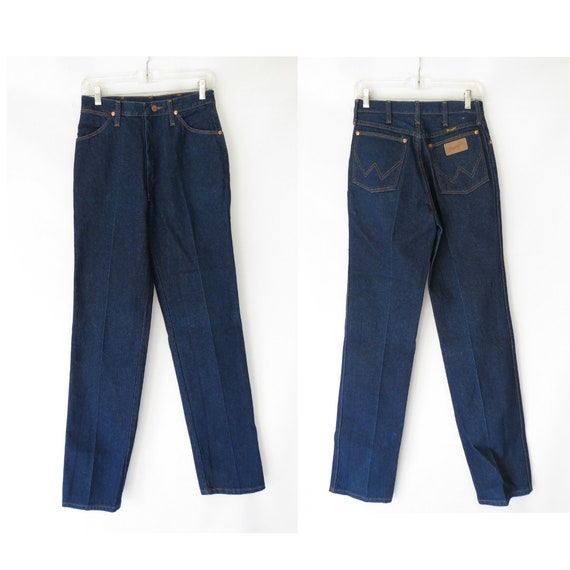 Women's Wrangler Jeans / 70's Jeans / High Waisted Jeans / Size 6 Small / Dark Wash Jeans / Western Jeans / Wrangler Denim