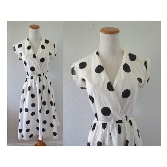 50s Style Dress Polka Dot Cotton Sundress