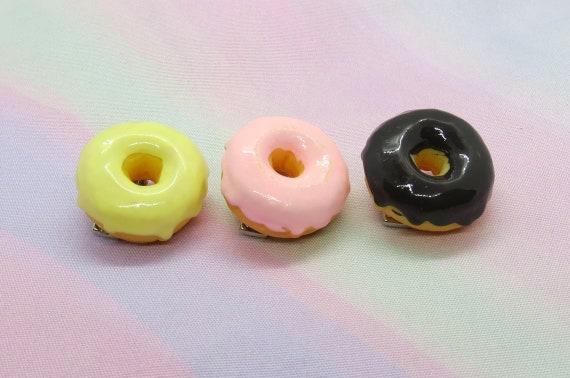 Donut Hair Clip Cute Food Barrette Kawaii