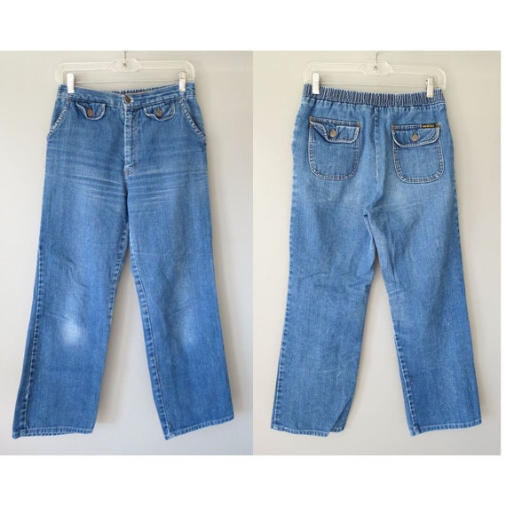 70s Jeans Women's High Waisted Denim