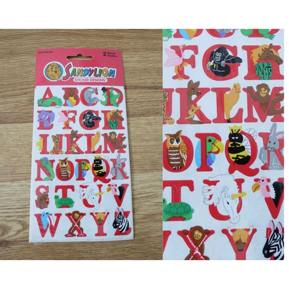 Sandylion Stickers ABC Animals Decals