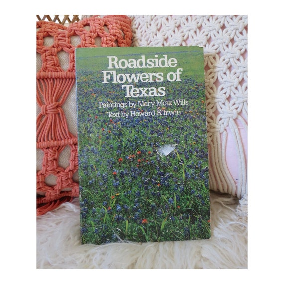 Wildflower Book Vintage Nature Guide Texas