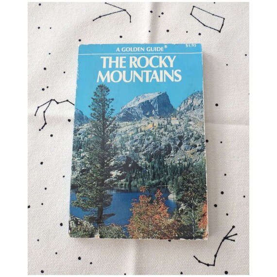 Rocky Mountains Golden Guide / Nature Field Guide / Vintage Golden Guide / Rocks Minerals Fossils Mammals Flowers Trees / Colorado Guide