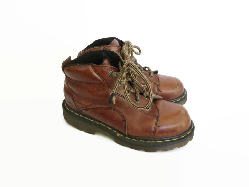 442fede8500 Doc Martens Hiking Boots / Dr Martens Boots / UK Size 3 / US Size 5.5 /  90's Shoes / Lace Up Boots / Made in England / Brown Leather