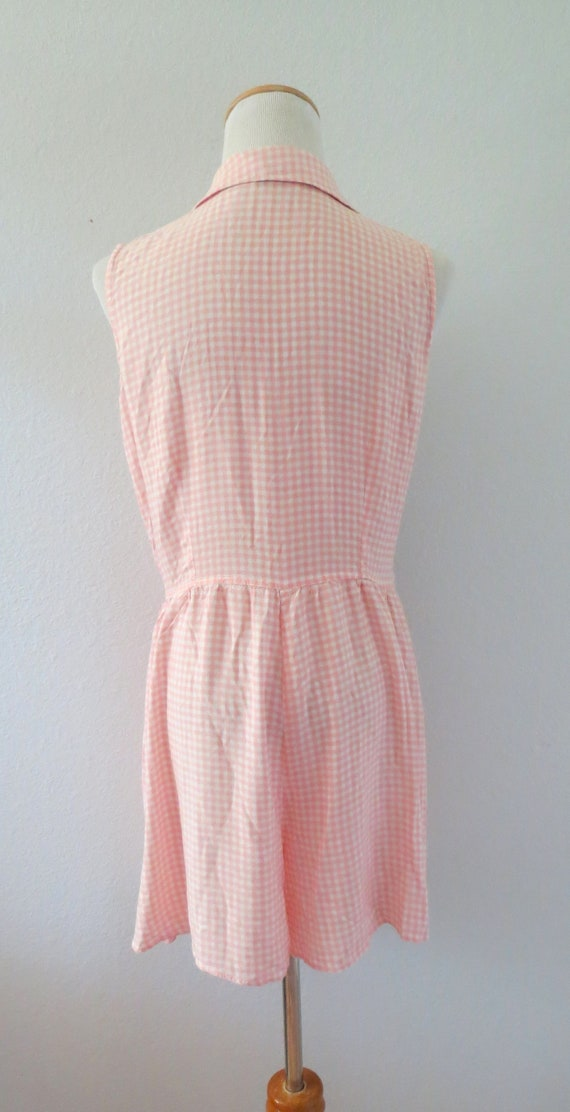 90s Romper Pink Gingham Rayon Playsuit - image 6