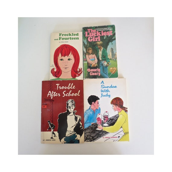 Teen Book Lot / 50's Teen Books / 60's Teen Books / Vintage Paperback Lot / Teen Paperback Lot / Mid Century YA Fiction / 70's Books