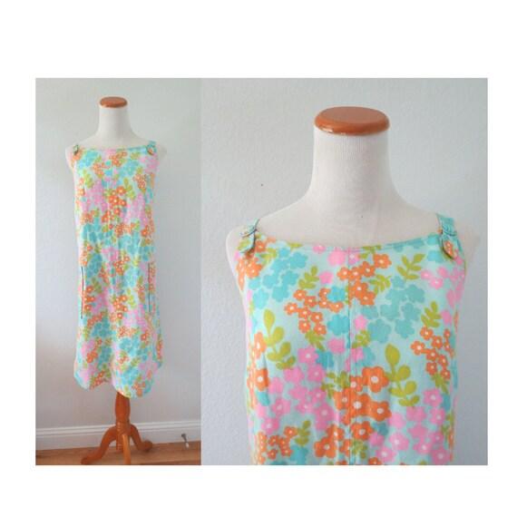 60s Shift Dress 1960s Floral Summer Sundress