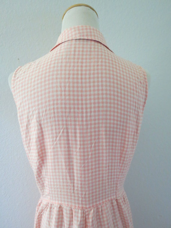 90s Romper Pink Gingham Rayon Playsuit - image 7