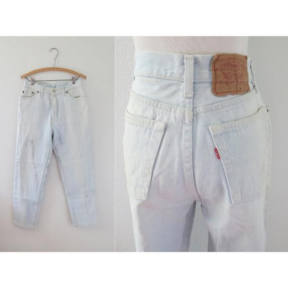 Levis 501 Jeans Light Wash Denim Jean 29 W