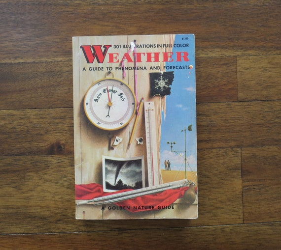 Weather Golden Guide / Golden Guide Book / 1950's Paperback / Meteorology Book / Zim / Weather Field Guide / Rain Snow Dew Tornado Hurricane