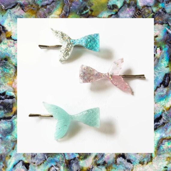Mermaid Bobby Pin Hair Clip Kawaii Hair Accessory Barrette Pastel Glitter Fairy Kei Beach Ocean Sea