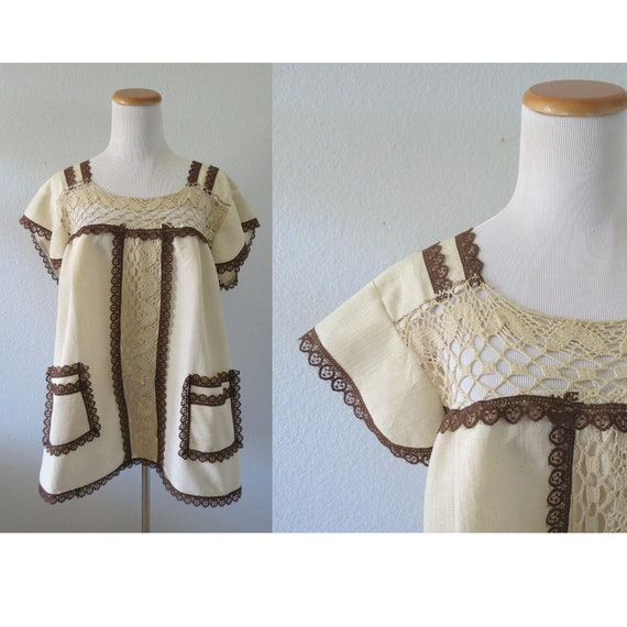 Mexican Blouse Embroidered Tunic Top