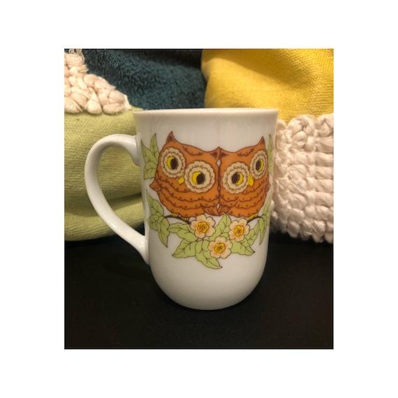 Vintage Owl Mug 70s Coffee Cup