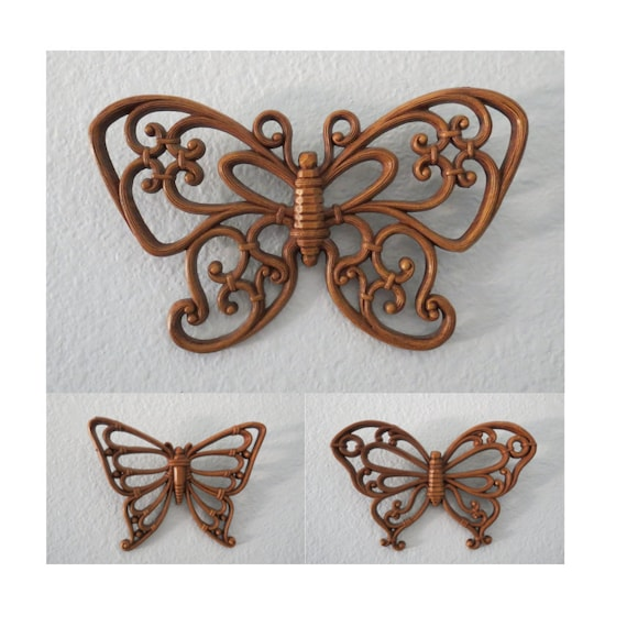 Butterfly Wall Hangings 1970s Wall Decor