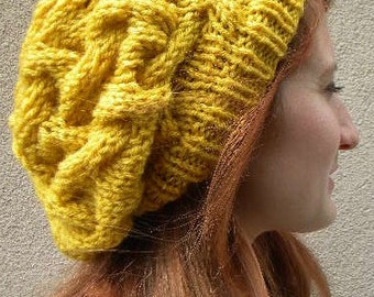 Cable Knit slouchy beret