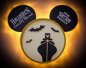 HOHS Cruise Door Magnet, Halloween on the High Seas Wooden Door Magnet with LED Lights, Disney cruise door magnet