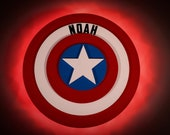 Captain America shield Wooden Door Magnets with LED Lights, Disney cruise door magnet, Marvel Day at Sea