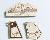 Marietta, Georgia wooden magnet