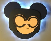 Edna from the Incredibles, Disney Cruise Line wooden Door Magnet with LED lights, Disney cruise door magnet