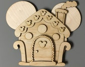 DIY Mickey Gingerbread house wooden magnet kit, Door Decoration for Disney cruise, DIY Disney cruise door magnet