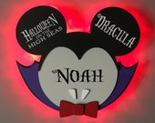 Dracula Mickey Door Magnets made from wood with LED lights, Halloween Mickey, Halloween on the High Seas, Disney cruise door magnet