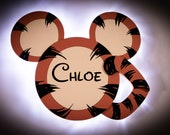 Tigger Door Magnet with LED Lights, Tigger Mickey for Disney Cruise Line, Hundred Acre Wood Disney cruise door magnet