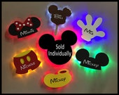 Disney cruise line personalized wooden door magnet with LED backlighting, sold individually, Disney cruise door magnet